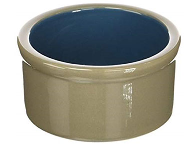 Ceramic bowls work best for cat food and water.